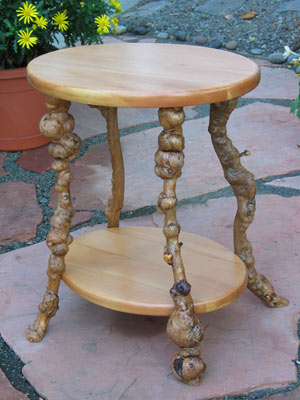 Burlwood Side Table